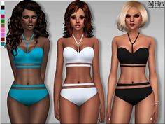 Sims 4 Updates: Sims Addictions - Clothing, Female : Cut Out swimsuit by Margeh75, Custom Content Download!