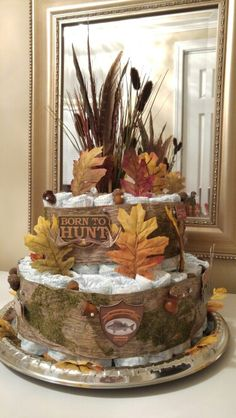 Outdoor Themed Diaper Cake I Made For A Friend S Little