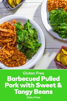 Barbecued Pulled Pork with Sweet & Tangy Beans looks so good! I love pulled pork, and this sounds like healthy easy lunch recipes. Best Lunch Recipes, Barbecue Pulled Pork, Great Northern Beans, Best Slow Cooker, Roasted Vegetables, Lunches And Dinners, Easy Meals, Healthy, Ethnic Recipes