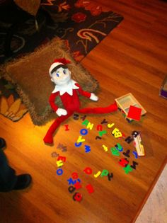 Elf on a Shelf: Playing with letters