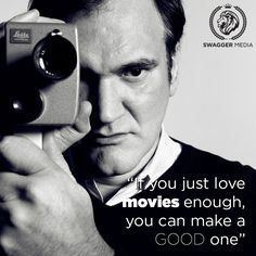 The wise words of Quentin Tarantino. #filmmaking #cinema #quote