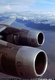 KLM Royal Dutch Airlines: Douglas right after take-off over Cook Inlet with a view over Turnagain Arm enroute to Tokyo- Haneda Turbine Engine, Gas Turbine, Mcdonald Douglas, Douglas Dc 8, Float Plane, Aircraft Engine, Jet Engine, Landing Gear, Commercial Aircraft