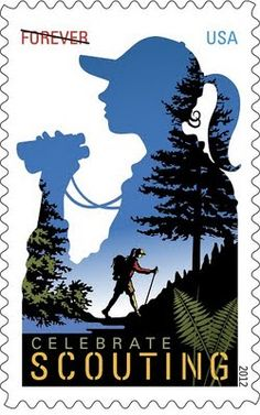 So awesome, a centennial Girl Scout stamp coming in 2012.