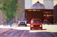 Downtown Calgary Art Illustrations, Illustration Art, Calgary, Car, Painting, Automobile, Painting Art, Cars, Paintings