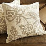 Wool Embroidered Grey Bird Pillow