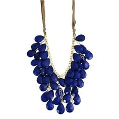 Blue Water Drop Shaped Pendants Necklace | Pariscoming