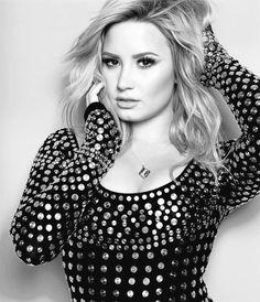 Demi Lovato photoshoot for Cosmopolitan (black and white)
