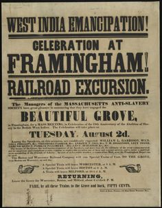 Anti slavery poster from Boston library archive on flickr