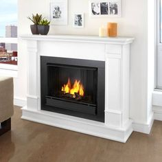 Real Flame Silverton 48 in. Electric Fireplace in - The Home Depot - Real Flame Silverton 48 in. Electric Fireplace in – The Home Depot - Decor, House, Family Room, Home, Gel Fireplace, New Homes, Indoor Fireplace, Fireplace, Faux Fireplace