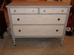 painted dresser.