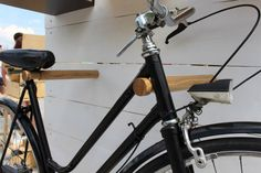 Wooden bicycle rack/ Bike stand/ Bike holder/ Minimalist bike rack//Bike hook/Interior design The new solution is a bicycle storage in the apartment -