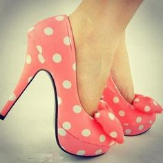 Pink Polka-Dot Pumps!