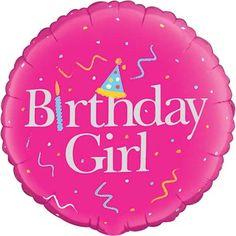 Birthday Girl Helium Foil Balloon £2.99