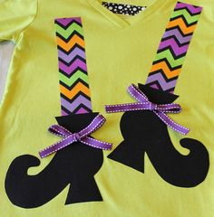 Iron On WITCH SHOES Applique - Toddler - long stockings
