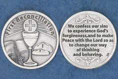 First Reconciliation Pocket Coin | For Greater Glory Catholic Book & Gift