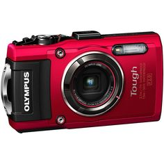 Olympus TG-4 16 MP Waterproof Digital Camera with 3-Inch LCD (Red)(Certified Refurbished). This Certified Refurbished product is manufacturer refurbished it shows limited or no wear. Includes all original accessories plus a 90-day warranty. 4X wide-angle optical zoom with fast f2.0 high speed lens. Waterproof to depths of 50 feet, Freeze proof to 14 degrees F, Shockproof to 7 feet, Crushproof to 220 lb. RAW capture, Live Composite, Underwater modes with Underwater HDR - Wi-Fi / GPS…