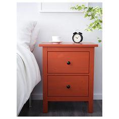 HEMNES 2-drawer chest - red-brown - IKEA