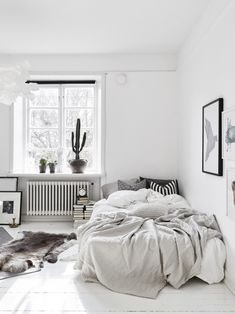 #DECO: White and Grey Small Studio | With Or Without Shoes - Blog Moda Valencia Tendencias