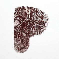 P created out of Fingerprints.  #typography