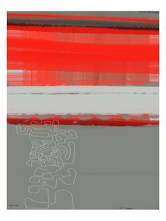 Abstract Red 1 Premium Poster by NaxArt at Art.com