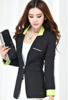 TC000412 Long Korean style coat slim spring business suit