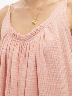 Gather Shortie cotton-gauze dress | Loup Charmant | MATCHESFASHION UK Gauze Dress, Beach Wear Dresses, Hemline, Beachwear, Boho Fashion, Fitness Models, Women Wear, Cotton, Clothes