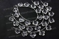 Crystal Quartz Faceted Flower Quality AA /  by GemstoneWholesaler, $30.00