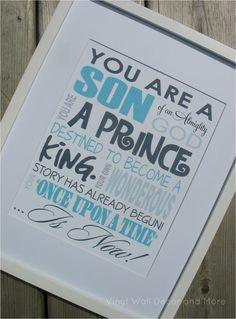 Typography Prince Print Son of an Almighty por VinylWallDecorandMor