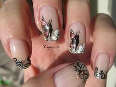 Nail art: Foil butterfly by Cajanails http://www.youtube.com/cajanails