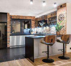 Kitchen Dinning Room, Kitchen Room Design, Kitchen Sets, Home Decor Kitchen, Kitchen Interior, Home Kitchens, Industrial Kitchen Design, Modern Kitchen Design, G Shaped Kitchen