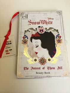 Beauty Book - front e.l.f. Snow White Collection e.l.f. Disney Snow White Limited Collection the fairest of then all