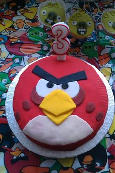 Home made Angry Bird cake for my little boys 3rd birthday