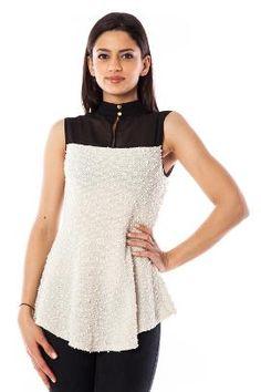 Bluza alb cu negru // www.ligo.ro