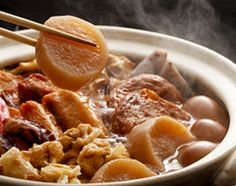 """""""Oden"""" is a type of hot cooking pot cuisine."""