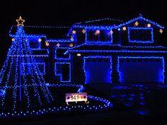 Christmas lights, Reno, Nevada