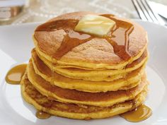 Sweet Potato Bisquick Pancakes --Easy and the perfect way to use a leftover yam!  I added a little extra water, but I do that with the regular Bisquick recipe too.  DELICIOUS.  I will def make these again.