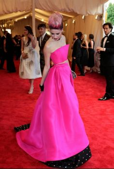 Polka dots in the shade.....The Met Gala Red Carpet