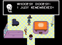 """""""Undertale"""" Honestly I was rolling when I saw this. Papyrus is the best."""
