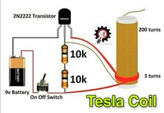 Circuit Diagram of Tesla Coil Tesla Coil Circuit, Diy Tesla Coil, Electronic Circuit Projects, Electronics Projects, Joule Thief, Nuclear Technology, Nicolas Tesla, Circuit Diagram, Mystery Box