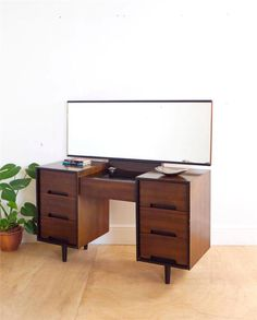 Stunning Two Tone Mid Century 60's Stag Dressing Table by John + Sylvia Reid in Antiques, Antique Furniture, Dressing Tables
