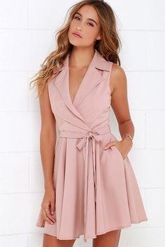 Singing in the Rain Sleeveless Blush Pink Dress at Lulus.com!