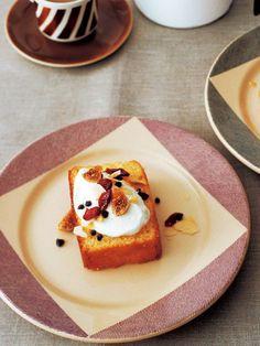 Recipe:サバラン風 アーモンドケーキ/アーモンドパウダーのたっぷり入ったスポンジはパウンドケーキのよう #レシピ #elleatable