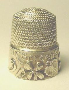 "1/"" Tall with Gold Trim Jones Hand Sewing Machine thimble"