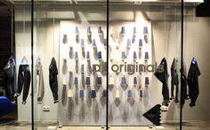 adidas, winter blue denim campaign, pinned by Ton van der Veer