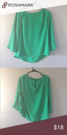 The limited green blouse Good contain only wore once The Limited Tops Blouses