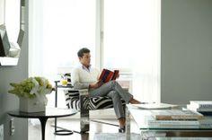 Luis D. Ortiz in his apartment designed by QUADRA