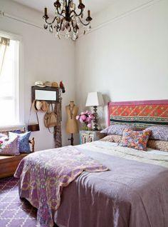 Bohemian chic bedrooms