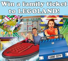 Win A LEGOLAND® Family Ticket worth over £200! + Two runner up prizes. Kent Travel, Travel Uk, Legoland, Lego City, Post Office, Earn Money, Competition, Things I Want, Places To Visit
