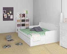 Ausziehbett »Combee« - Dänisches Bettenlager Toddler Bed, Furniture, Home Decor, Child Bed, Set Of Drawers, Homes, House, Ideas, Decoration Home