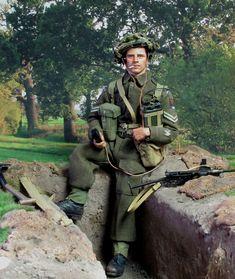 Corporal Sparkes 1944 by Tony Barton British Army Uniform, British Uniforms, British Soldier, Gi Joe, British Commandos, Canadian Soldiers, Zombie Apocalypse Survival, Military Action Figures, Military Insignia